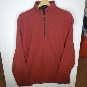 Timberland maroon quarter zip sweater